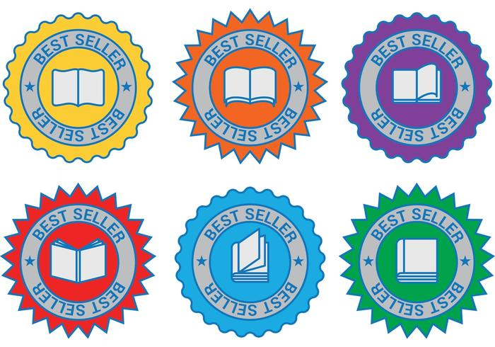 Bestseller Boek Vector Badges