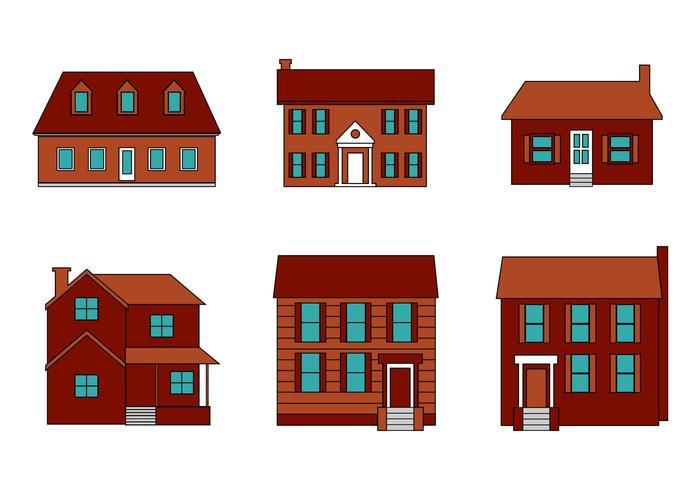Gratis Mansion Vector Set