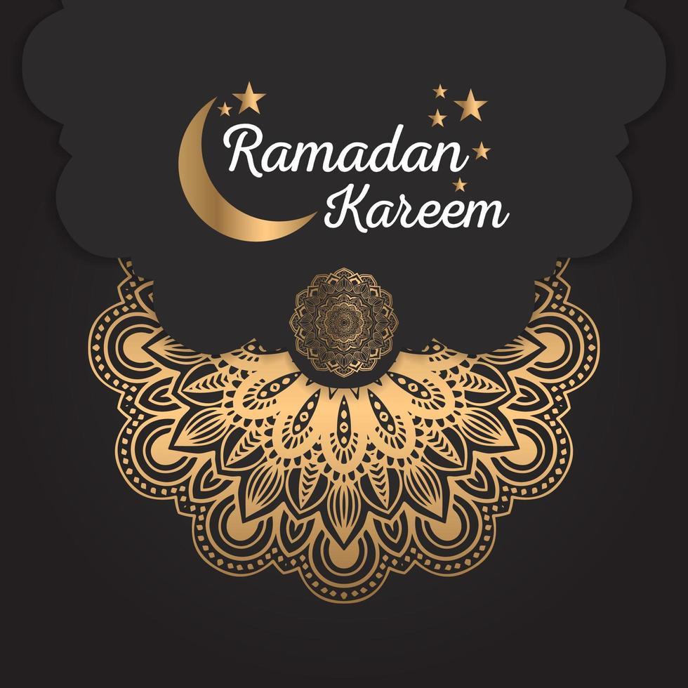 abstract mandala ramadan kareem ontwerp vector