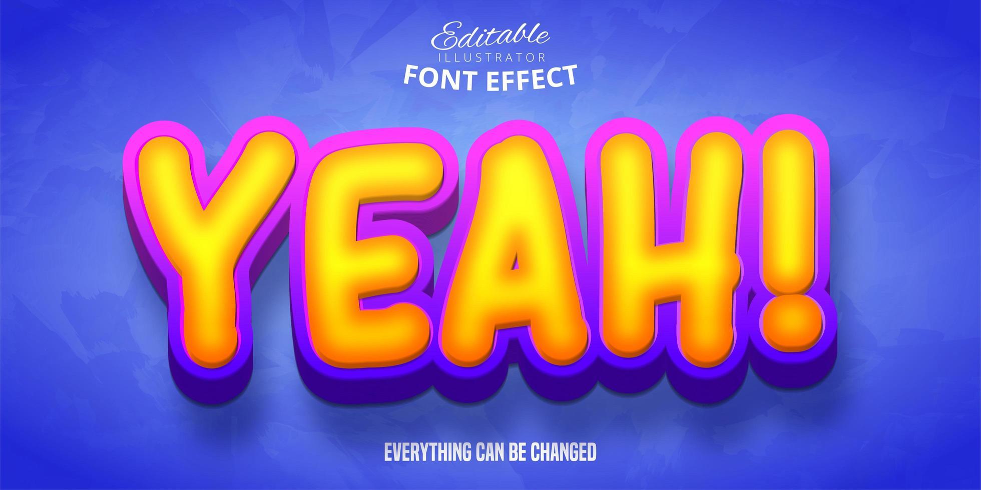 ja cartoon teksteffect vector