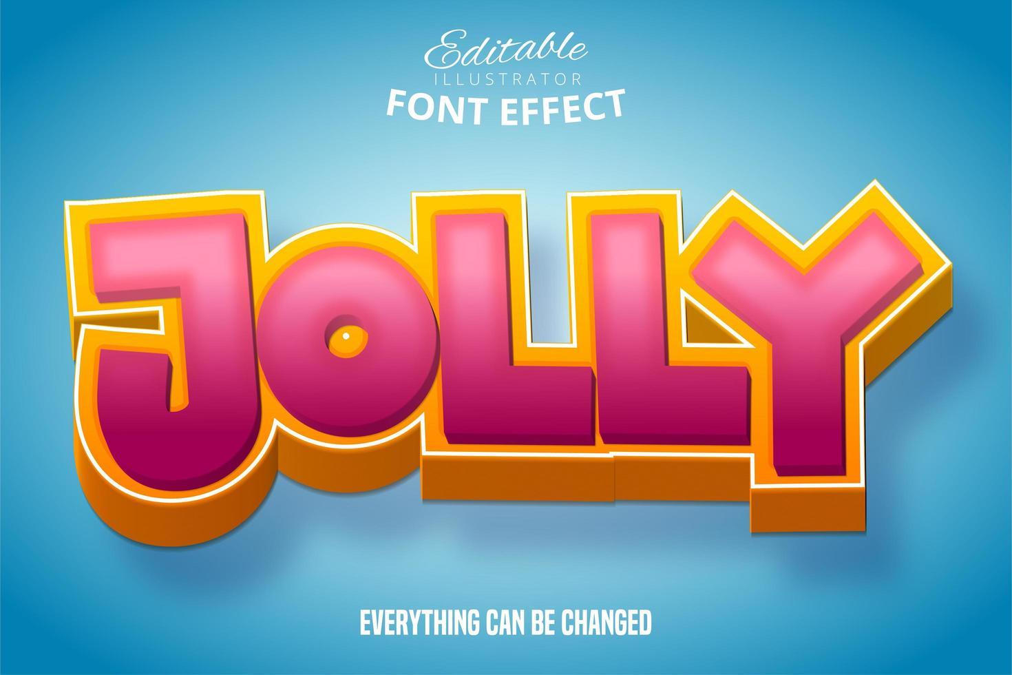 vrolijk teksteffect vector