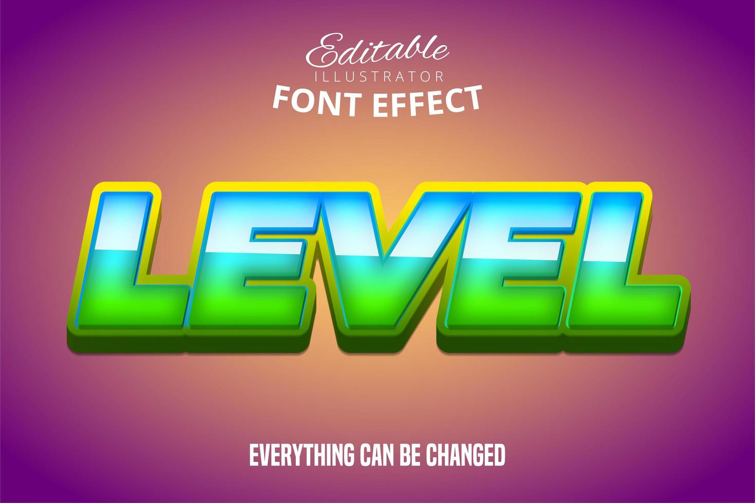 niveau teksteffect vector