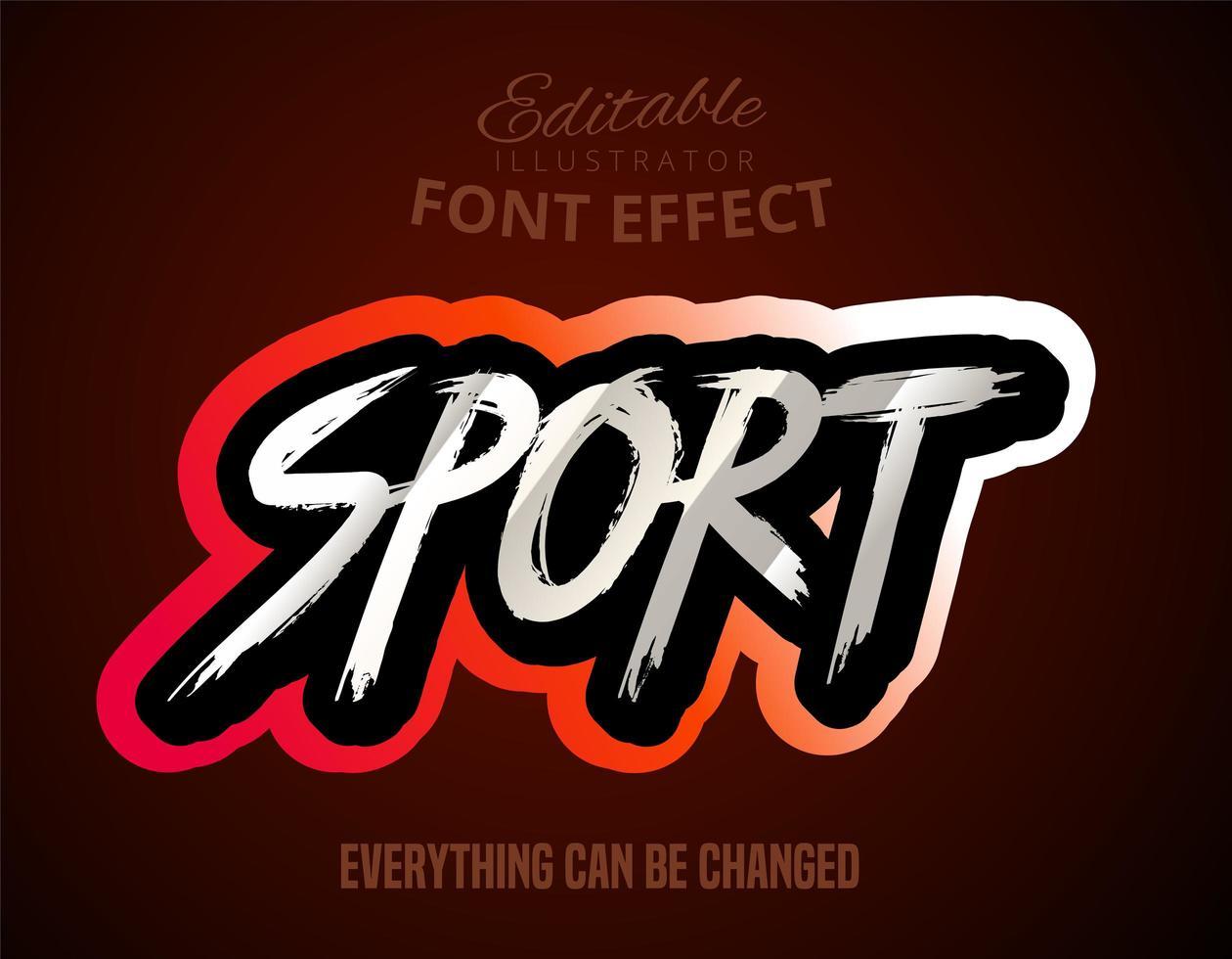grunge sport teksteffect vector