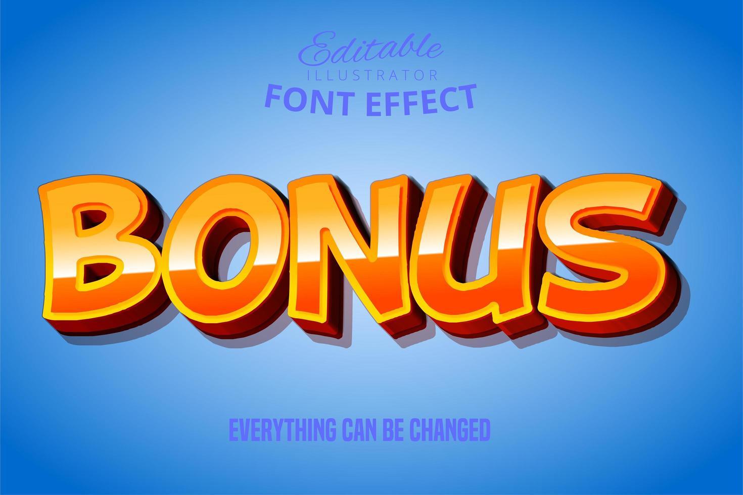 bonus oranje teksteffect vector