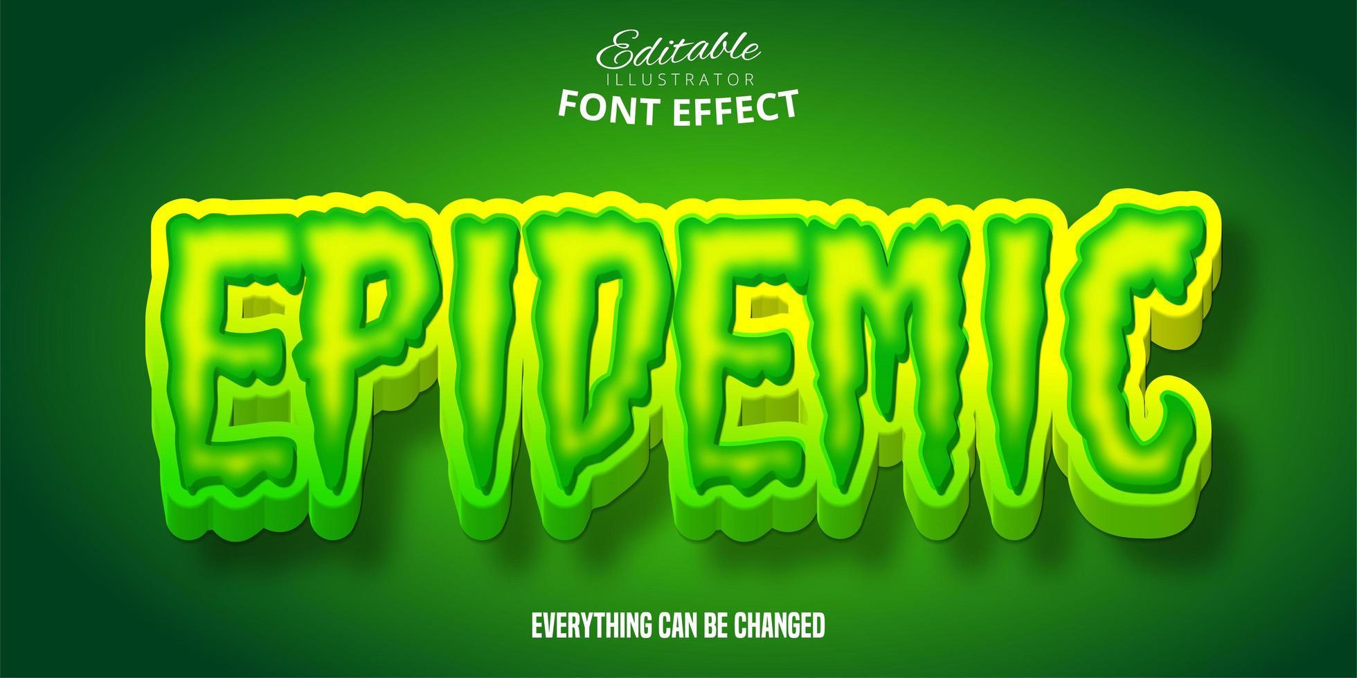 epidemisch lettertype-effect vector