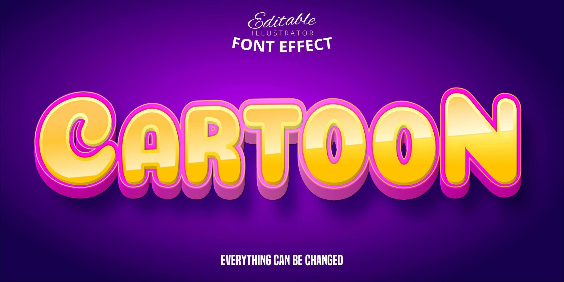 effect van de beeldverhaal het oranje roze tekst vector
