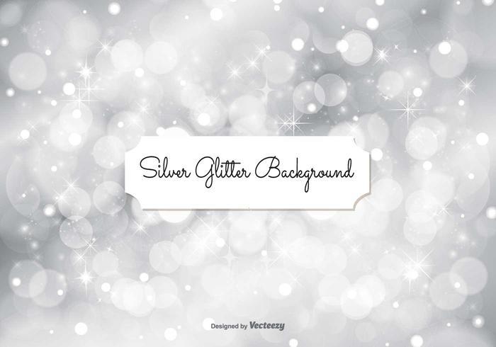 Zilveren Glitter Achtergrond Illustratie vector