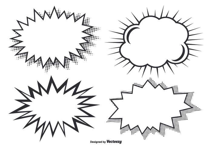 Comic style burst vormen vector