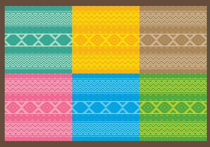 Textiel Azteekpatronen vector