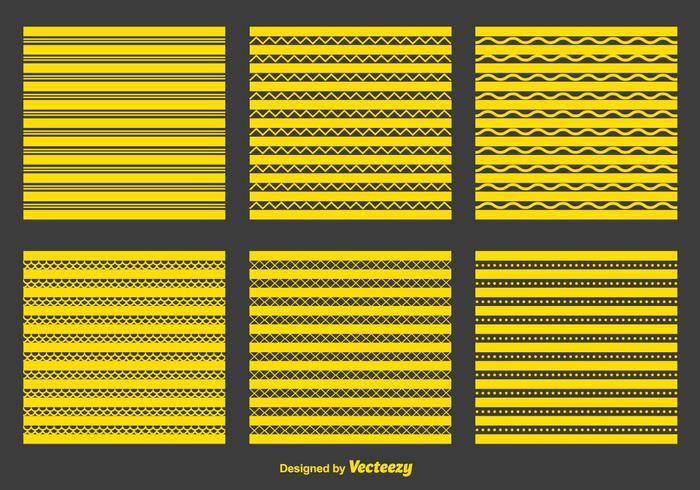Gele Zigzag en Geometrische Patronen vector