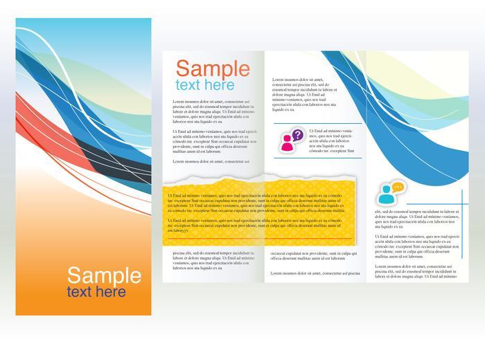Business design curves brochure vector