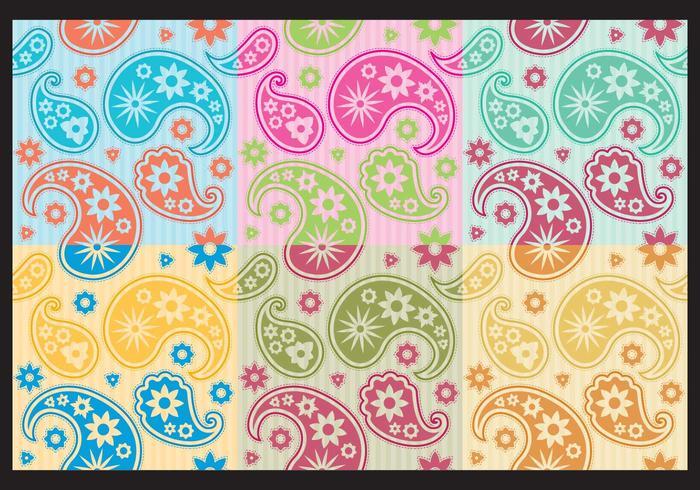 Kleurrijke Paisley Patronen vector