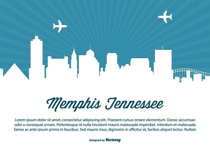 Memphis Tennessee Horizon Illustratie vector