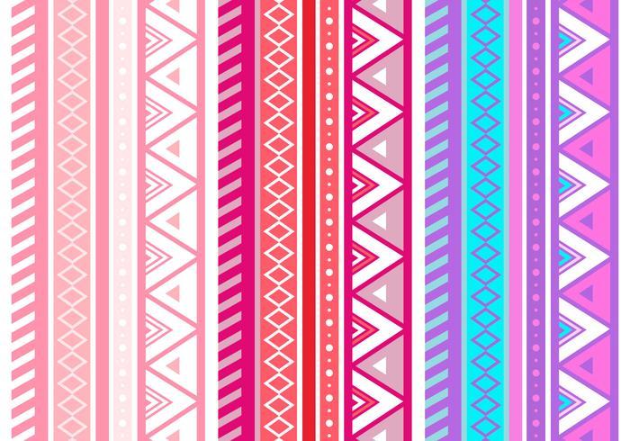 Gratis Roze Azteek Geometrische Naadloze Vector Patroon