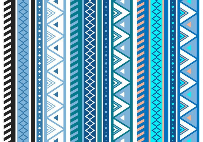 Gratis Blue Aztec Geometrische Naadloze Vector Patroon