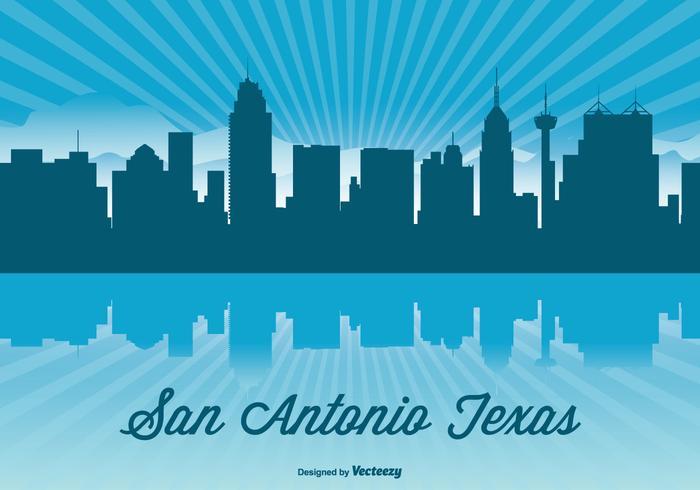 Texas Skyline Illustratie vector