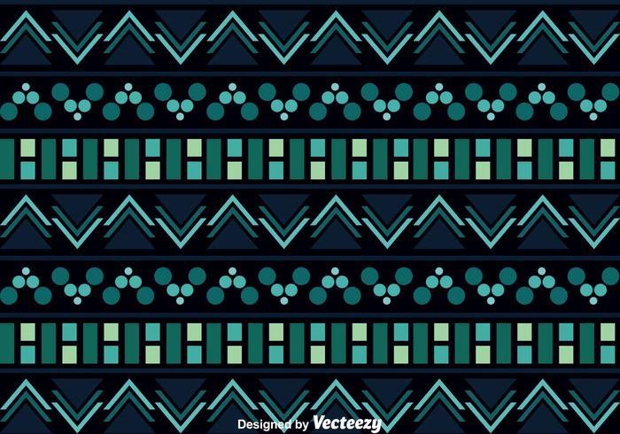 Azteekpatroon Op Donkere Achtergrond vector