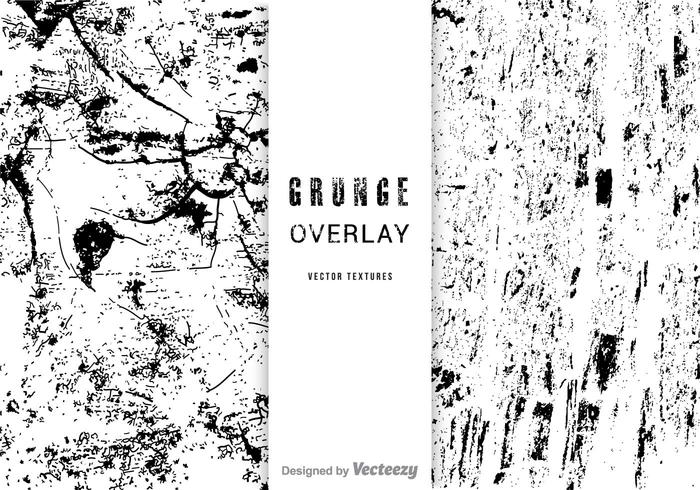 Gratis Vector Grunge Overlay Set