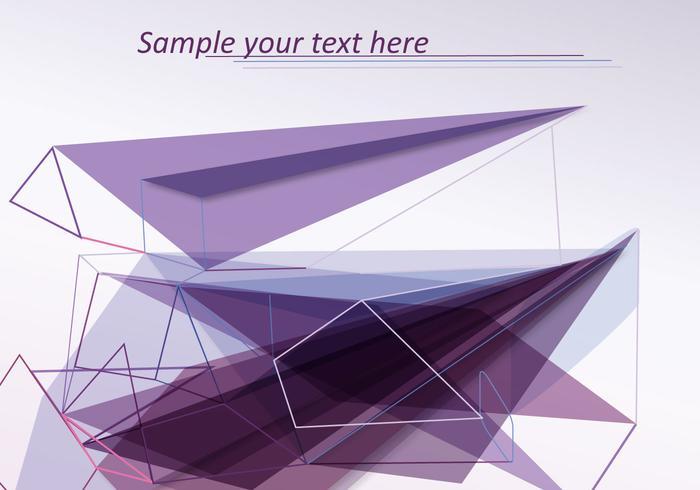 Abstract Met Lijnen En Vormen vector