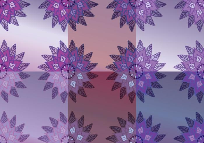 Bloemenpaars Abstracte Achtergrondvectoren vector
