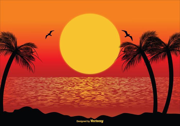 Tropische Scène Illustratie vector