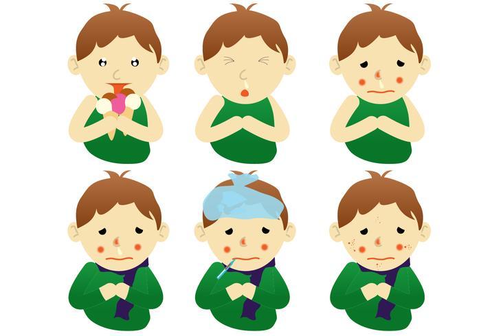 Zieke Kindervectoren vector