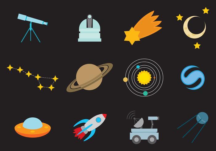 Space Vector Pictogrammen