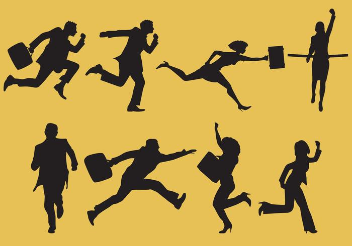 Bedrijfsmensen die vectoren rennen
