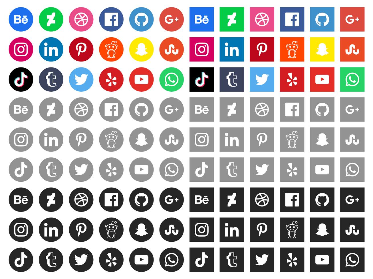 Gratis Social Media Pictogrammen vector
