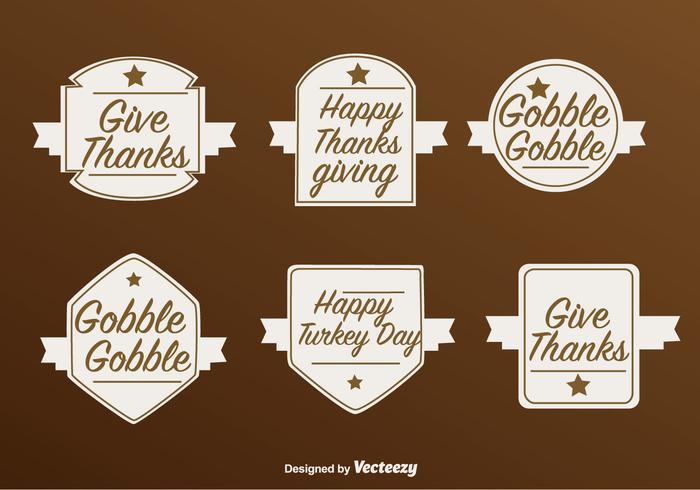 Gelukkige Thanksgiving Vector Labels