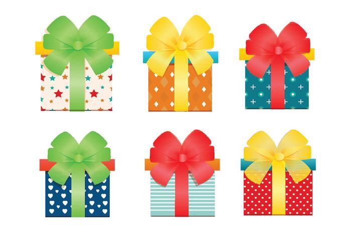 Vector geschenkdozen