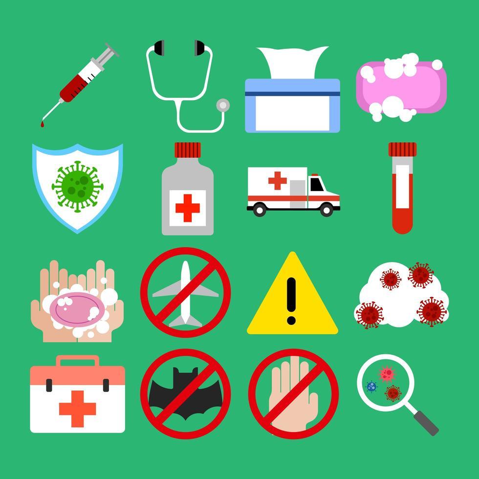 virus pandemie platte pictogram activa vector