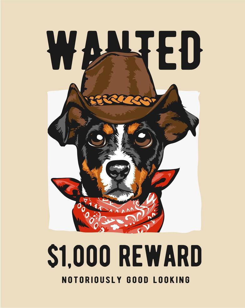 cowboy hond in Gezocht teken vector