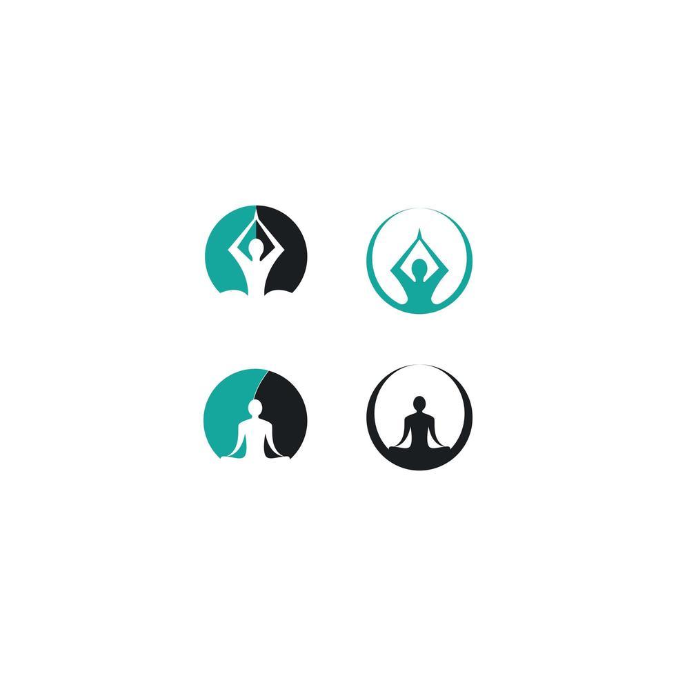 pictogram voor yoga vector