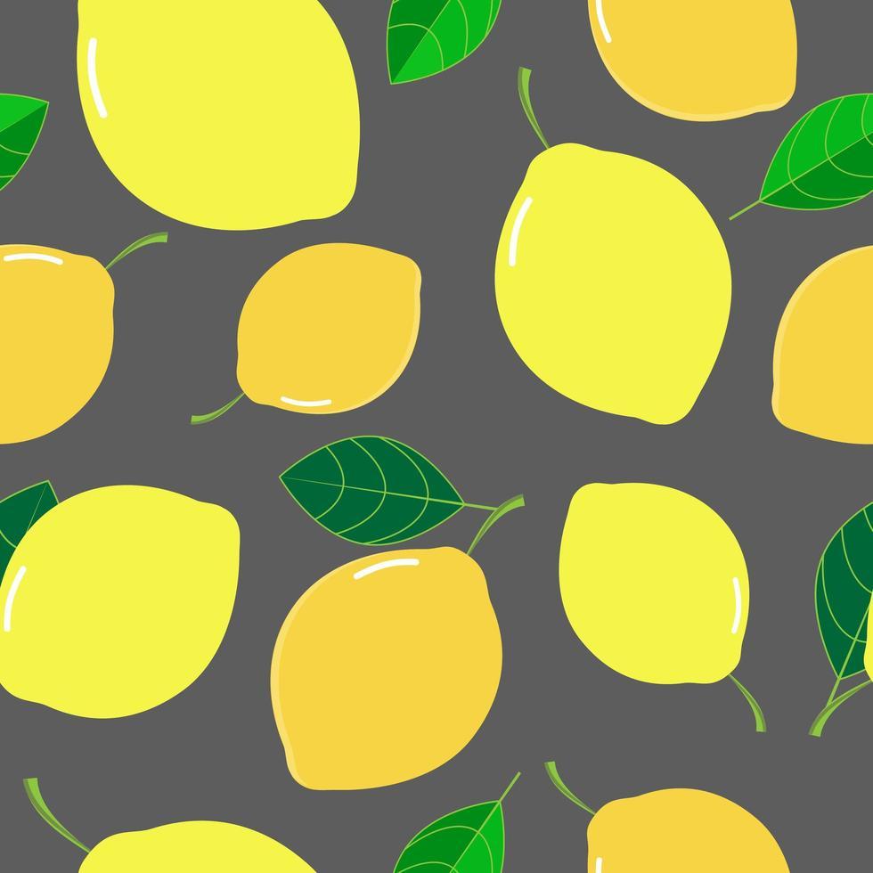 vers citroen tropisch patroon vector