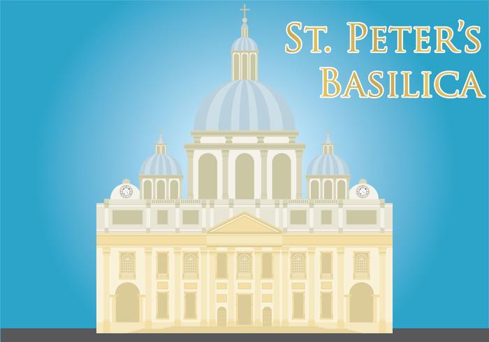 St peters basilica vector