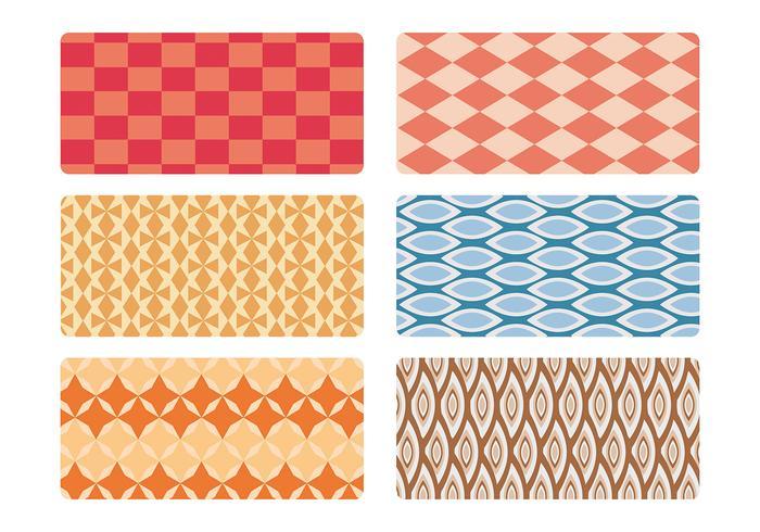 Mid eeuwse patroon vector set