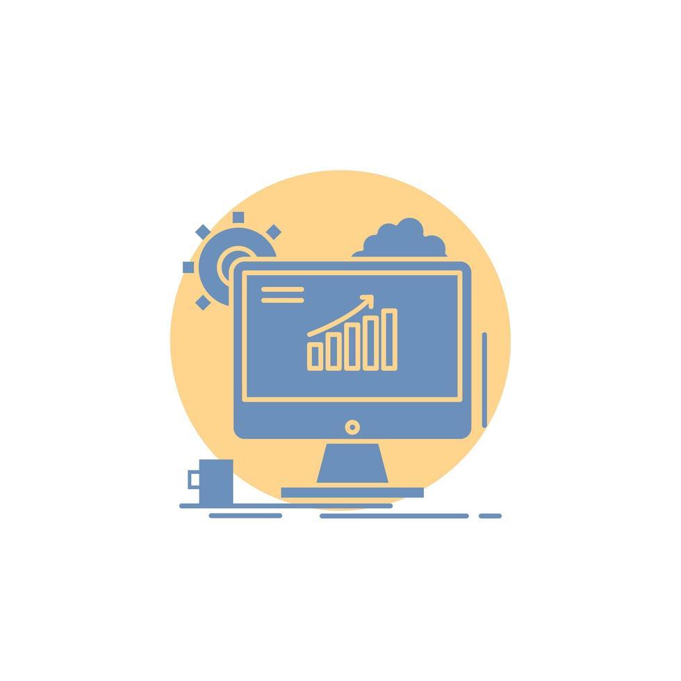 analytics computerpictogram ontwerp vector