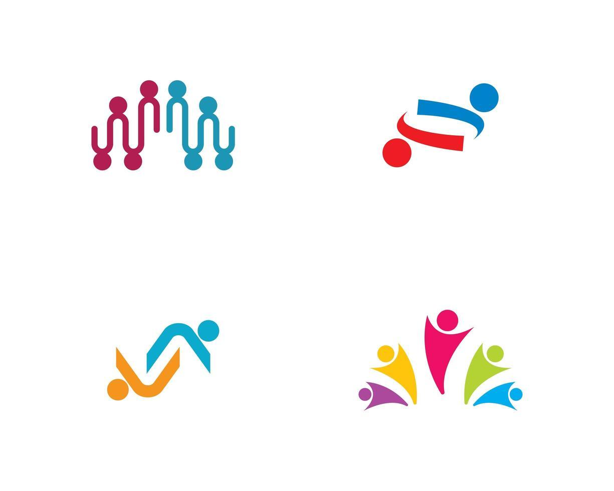 gemeenschapscultuur logo set vector