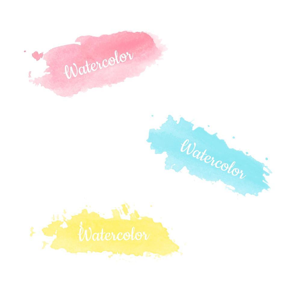 kleurrijke aquarel penseelstreken vector