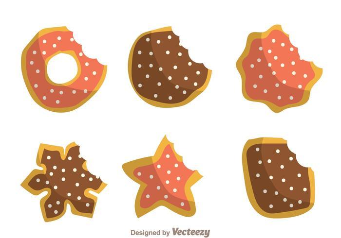 Bijt mark cookies vector