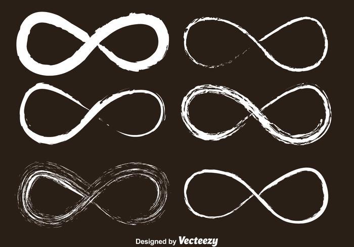 Oneindige Krijt Getekende Pictogrammen vector