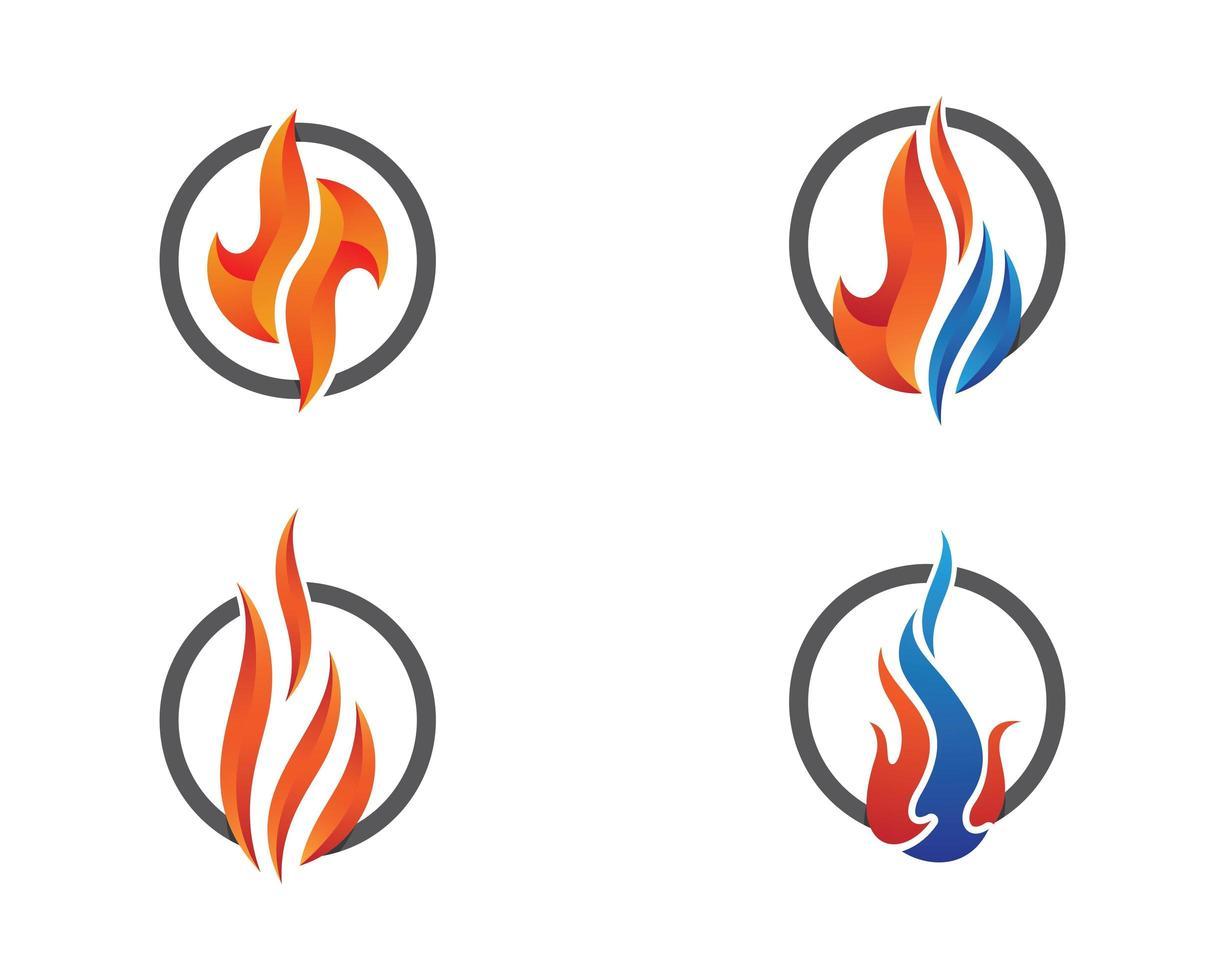 brand symbool illustratie set vector