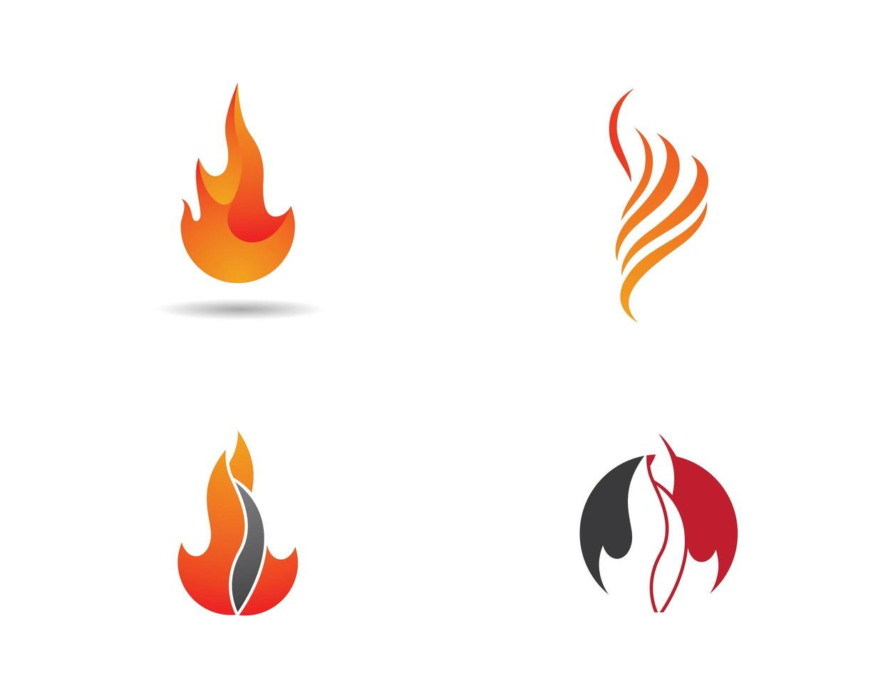brand vlam logo set vector