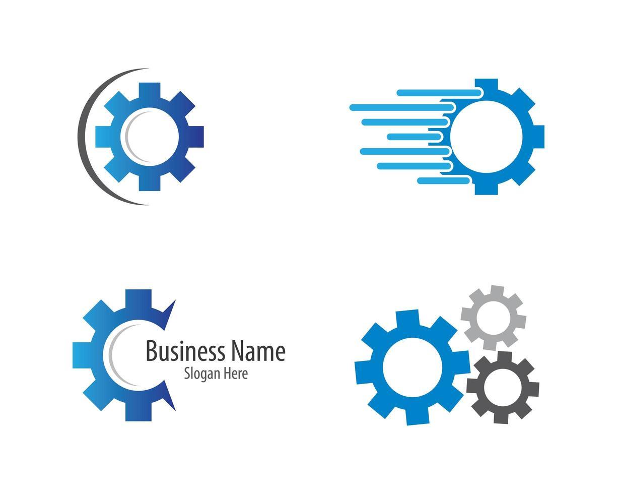 versnelling machines logo pictogramserie vector