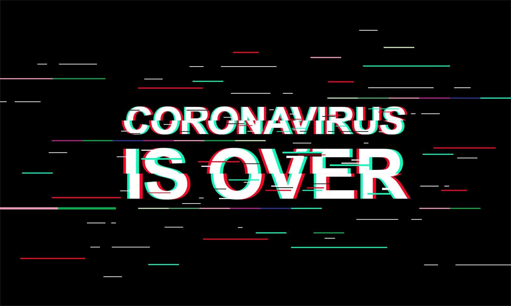 coronavirus is voorbij lichte banner vector