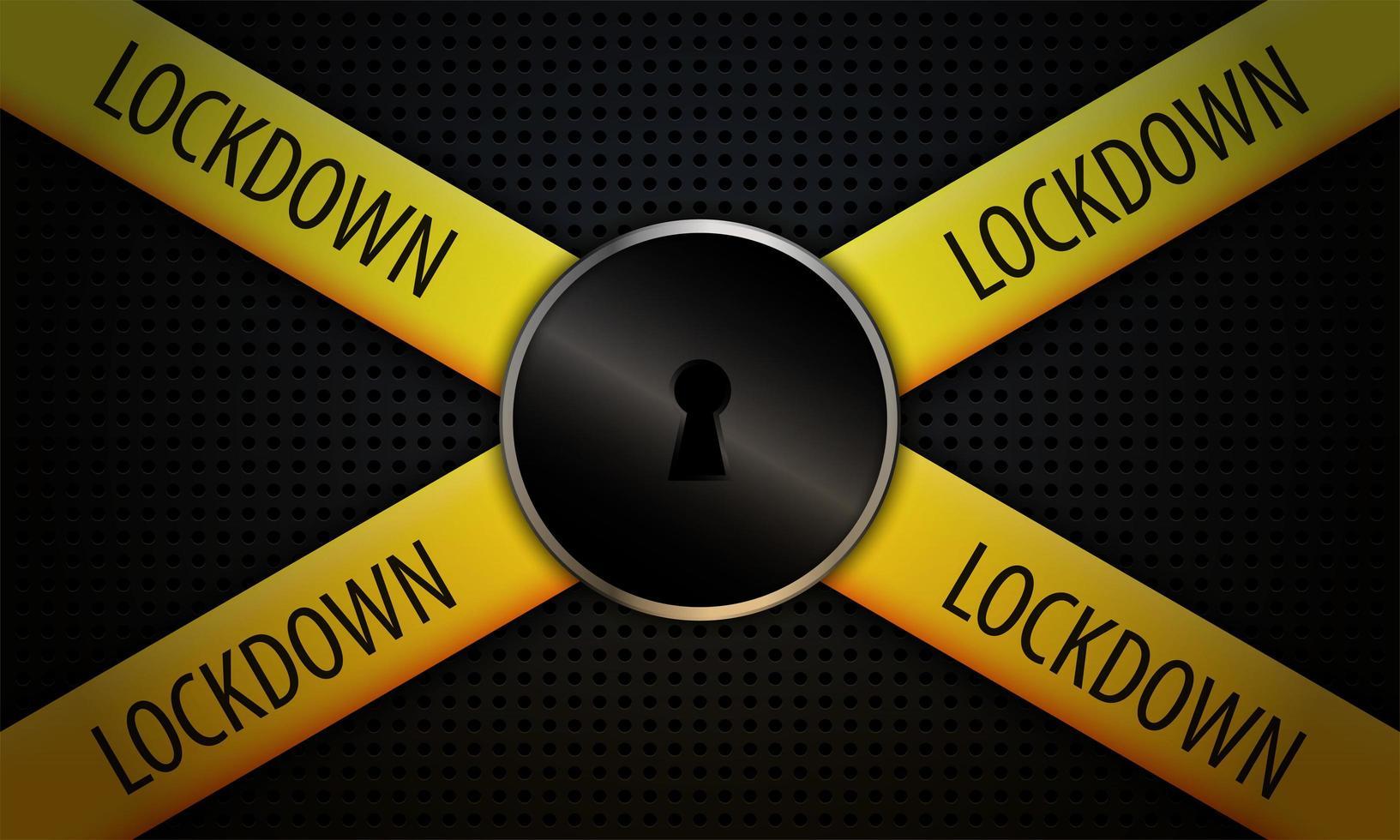 lockdown concept achtergrond vector