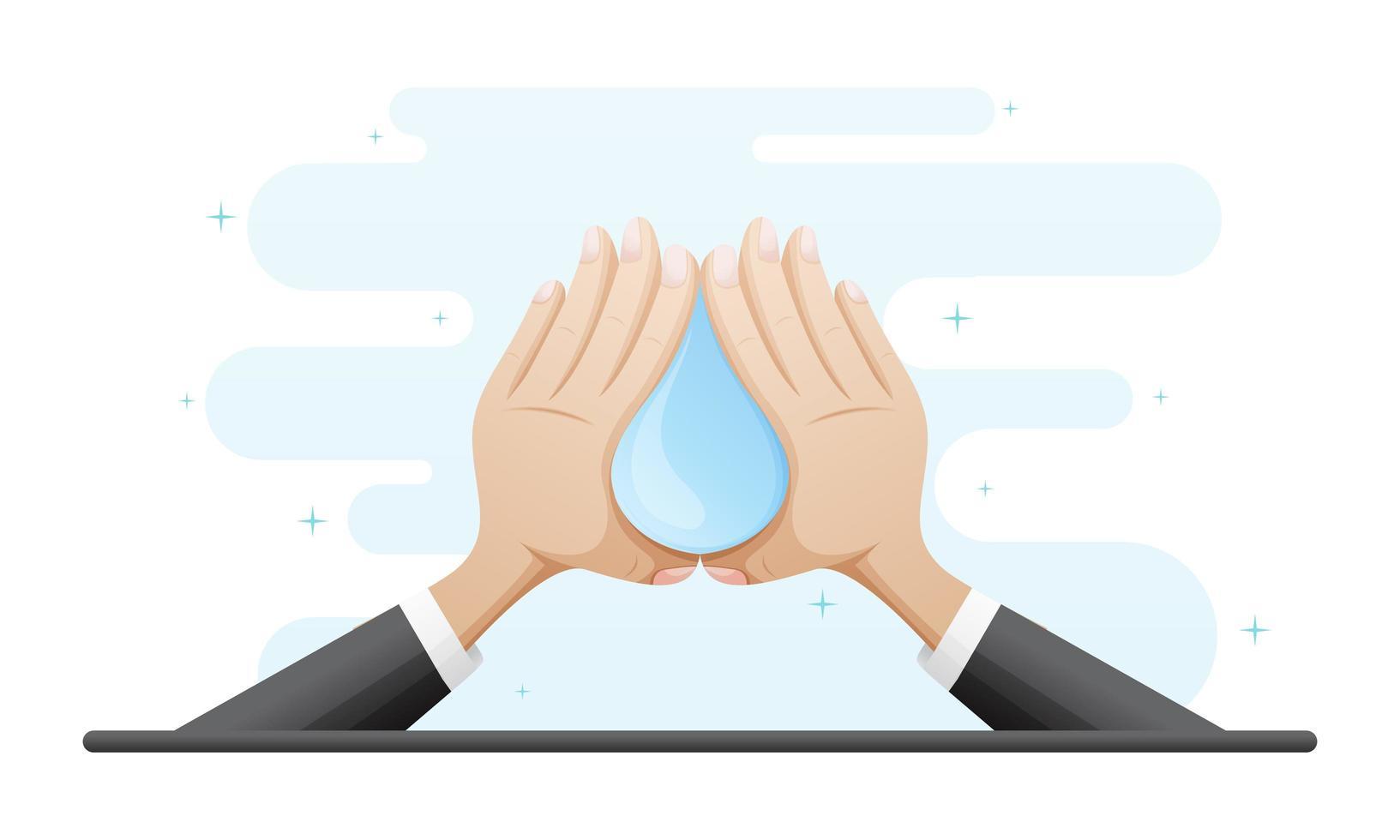handen wassen concept illustratie vector