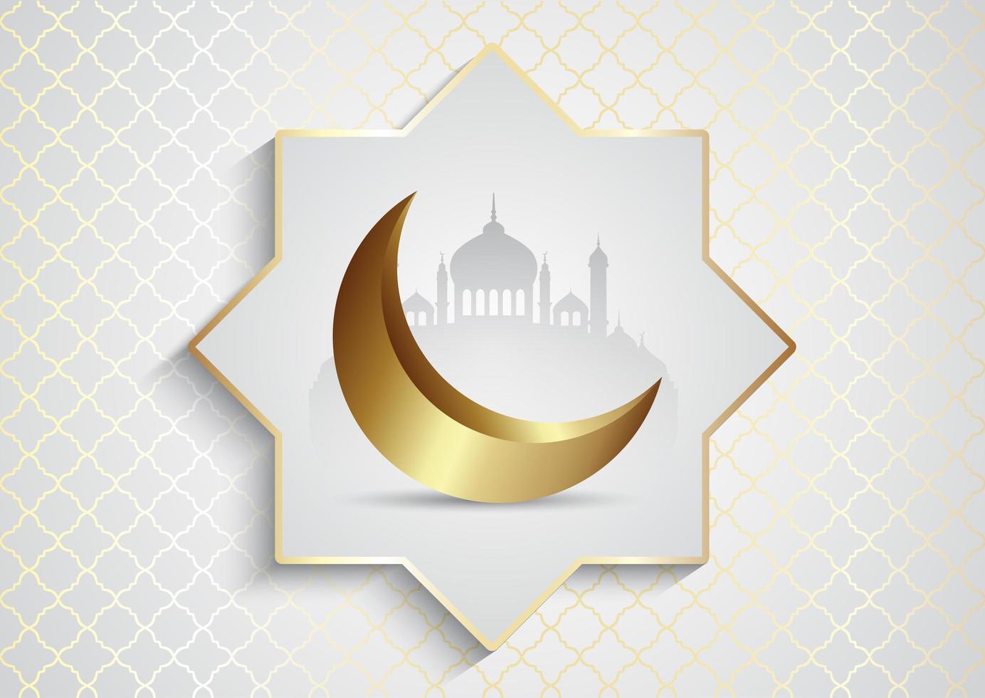 ramadan kareem met moskeeën vector