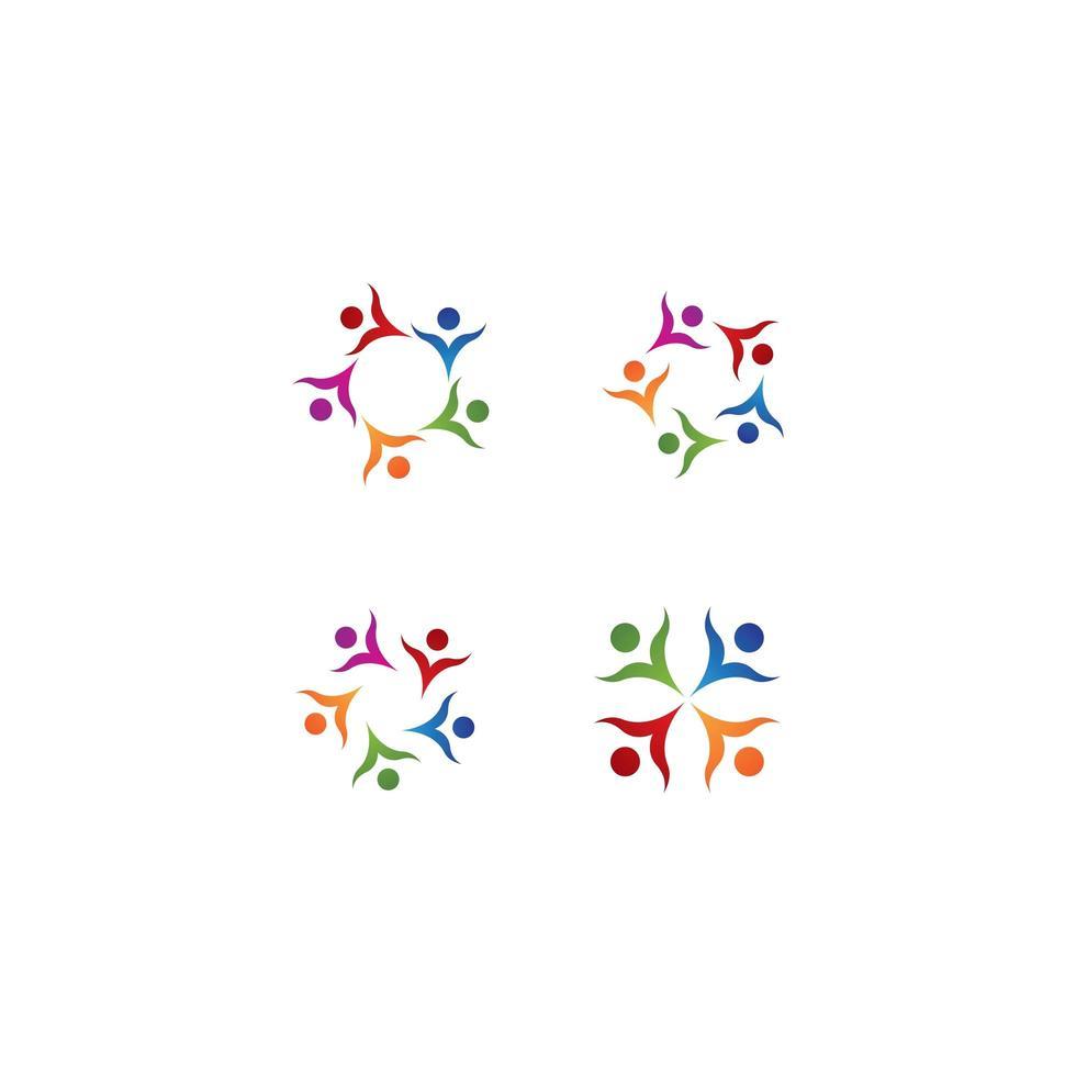 gemeenschap logo sjabloon set vector